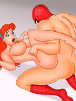 Amazing cartoon porn with blonde hottie showing her big tits and nice pussy